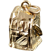 14K Casino Slot Machine Gambling Gamblers Charm/Pendant Yellow Gold