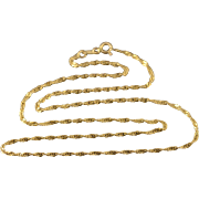 "14K 1.7mm Rolling Cable Link Chain Necklace 18.25"" Yellow Gold"