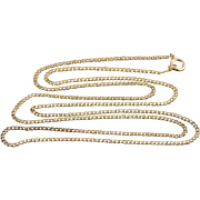 "14K 1.7mm Loose Curb Link Fancy Chain Necklace 23.3"" Yellow Gold"