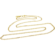 """14K 1.8mm Cable Link Chain Necklace 20"""" Yellow Gold"""