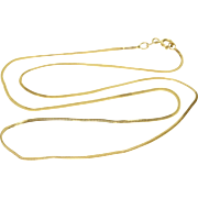 "14K 1.1mm Pressed Foxtail Fancy Link Chain Necklace 17.9"" Yellow Gold"