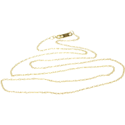 """10K 1.0 mm Rolling Cable Link Chain Necklace 18.5"""" Yellow Gold"""