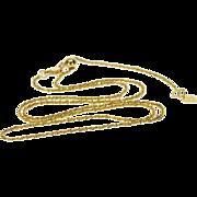 "14K 1.3mm Rolling Pinwheel Adjustable Slide Chain Link Necklace 19.75"" Yellow Gold"