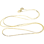 "14K 1.6mm Pressed Serpentine Link Chain Necklace 16.5"" Yellow Gold"