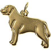 14K Dog Rottweiler Labrador Breed Charm/Pendant Yellow Gold