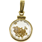 1/20 14Gold Filled Round Glass Encased Nugget Charm/Pendant