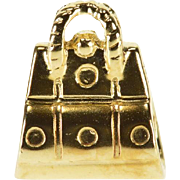 14K Handbag Purse 3D Slide Bead Charm/Pendant Yellow Gold