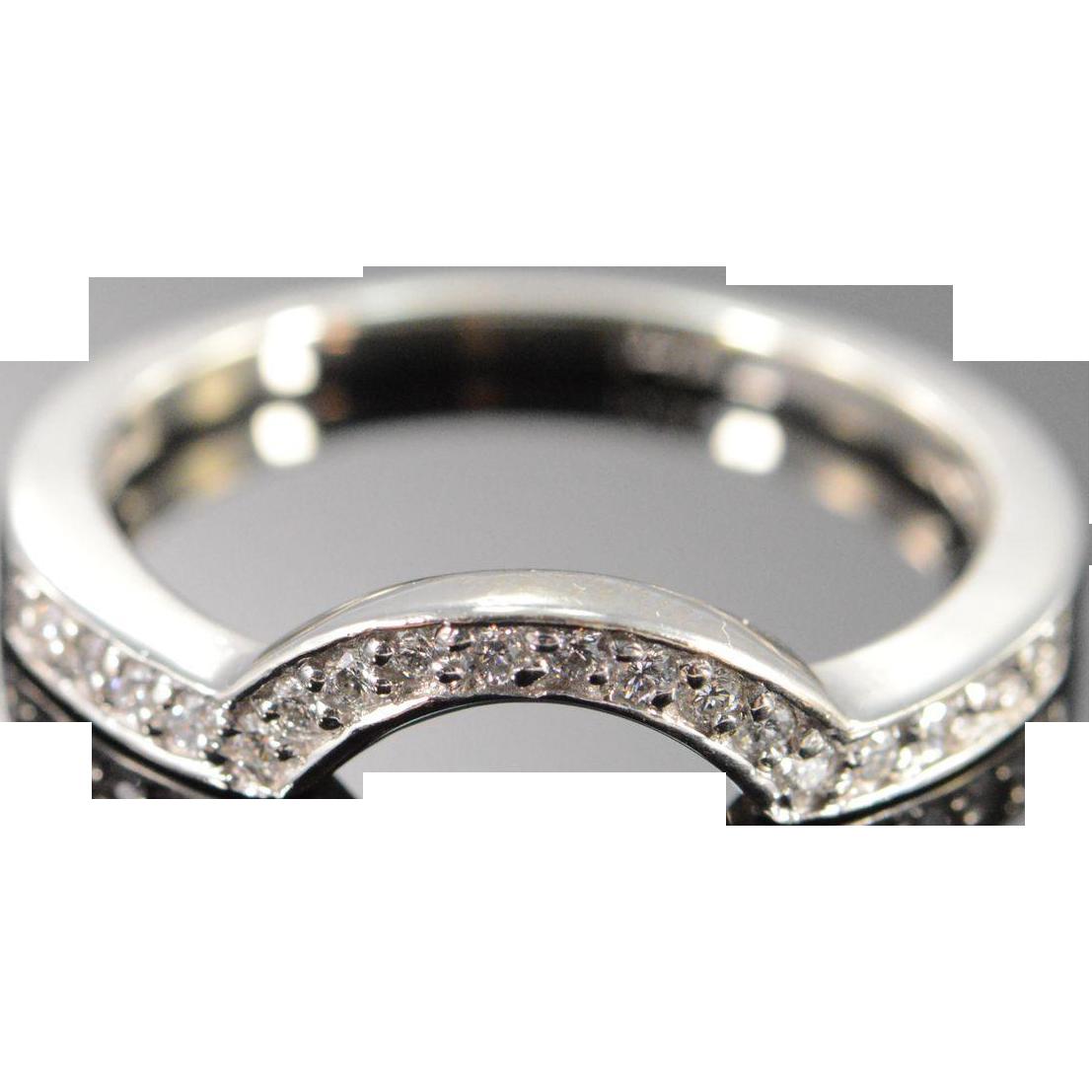 14K 018 CTW Diamond Wrap Around Wedding Band Ring