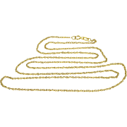 "14K Cable Link Fancy Chain Necklace 23.25"" Yellow Gold"