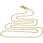 """14K Fancy Rolling Cable Link Chain Necklace 18"""" Yellow Gold"""