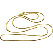 """14K Pressed Squared Cascade Link Fancy Chain Necklace 21"""" Yellow Gold"""