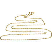 """14K Rolling Cable Link Fancy Chain Necklace 18.25"""" Yellow Gold"""