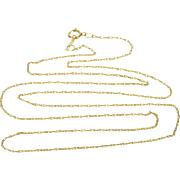 "14K 0.8mm Rolling Cable Link Chain Necklace 20.5"" Yellow Gold"