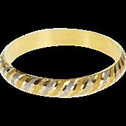 "22K Indian Textured Two Tone Wave Child's Bangle Bracelet 5.25"" Yellow Gold  [QPQQ]"