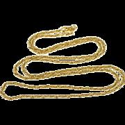 "10K 1.4mm Foxtail Twist Spiral Link Chain Necklace 18.25"" Yellow Gold  [QPQQ]"
