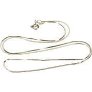 "14K 1.0mm Pressed Squared Snake Cascade Link Necklace 17.5"" White Gold  [QPQQ]"
