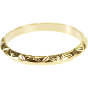 10K Zig Zag Patterned Baby Child's Band Ring Size 1.25 Yellow Gold [QPQQ]