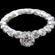 14K 1.46 Ctw Diamond Infinity Engagement Ring Size 5.25 White Gold