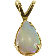14K Pear Cut Tear Drop Opal* Pendant Yellow Gold  [QPQC]