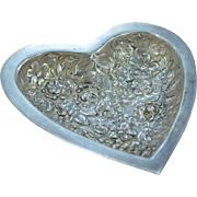 Sterling Silver Stieff Baltimore Floral Heart Nut Dish Fine Silver