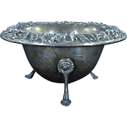 Sterling Silver S. Kirk & Son Floral Trimmed Footed Bowl Fine Silver