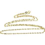 """14K 1.7mm Rolling Curb Link Fancy Chain Necklace 19.75"""" Yellow Gold  [QPQC]"""