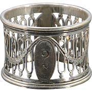 Silver William Hutton & Sons English Napkin Ring