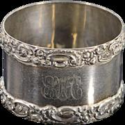 Sterling Silver Ornate Napkin Ring