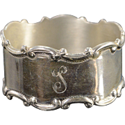 Silver William Henry Sparrow English Birmingham Lovely Napkin Ring