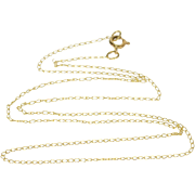 10K 0.9mm Cable Link Loose Fancy Chain Necklace 13.5 Yellow Gold  [QWXQ]