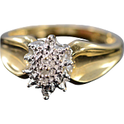 10K 0.02 Ctw Diamond Cluster Ring Size 7 Yellow Gold