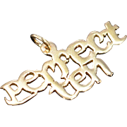 10K Perfect Ten Letter Charm/Pendant Yellow Gold
