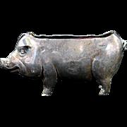Sterling Silver Pig Pin Cushion
