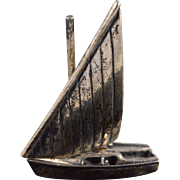 Sterling Silver 3D Large Sailboat Figure Sail Moves