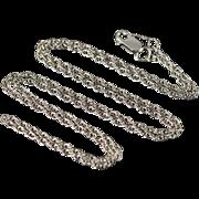 "14K 1.2mm Loose Link Necklace 17.75"" White Gold"