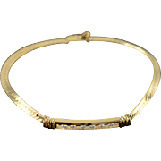 "14K 0.20 CTW Diamond Bar Set Link Bracelet 7"" Yellow Gold"