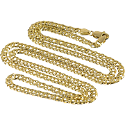 """14K Loose Link Necklace Size 22"""" Yellow Gold"""
