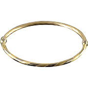 "14K Twist Bangle Hinged Bracelet 2.25"" Yellow Gold"