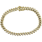 "10K 1.00 CTW Diamond Tennis Bracelet 7.25"" Yellow Gold"