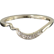 14K 0.05 CTW Diamond Engagement Wrap Band Ring Size 5.25 White Gold