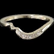 14K 0.05 CTW Diamond Engagement Wrap Band Ring Size 5.25 White Gold