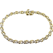 "10K 0.40 CTW Diamond Tennis Bracelet 7.25"" Yellow Gold"
