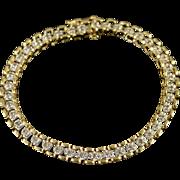 "10K 1.00 CTW Diamond Tennis Bracelet 7.5"" Yellow Gold"