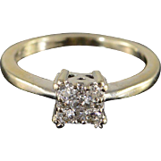 14K 0.25 CTW Diamond Engagement Ring Size 4.5 White Gold