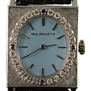 0.42 CTW Diamond Sapphire Paul Breguette Art Deco Women's Watch