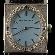 0.42 CTW Diamond Sapphire Paul Breguette Art Deco