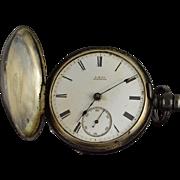American Waltham Watch Co. 1880 11 Jewel 18s 54mm Case Key Wind Pocket Watch