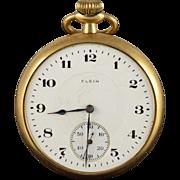 Elgin 1918 48mm Case 17 Jewel 16s Grade 382 Pocket Watch