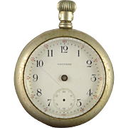 Waltham 1908 56mm Case 7 Jewel 18s Grade No.1 Parts Pocket Watch [QWXQ]