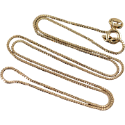 """Sterling Silver 0.9mm Box Link Chain Necklace 18"""""""